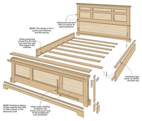 bedroom set oak bed woodworking project woodsmith plans