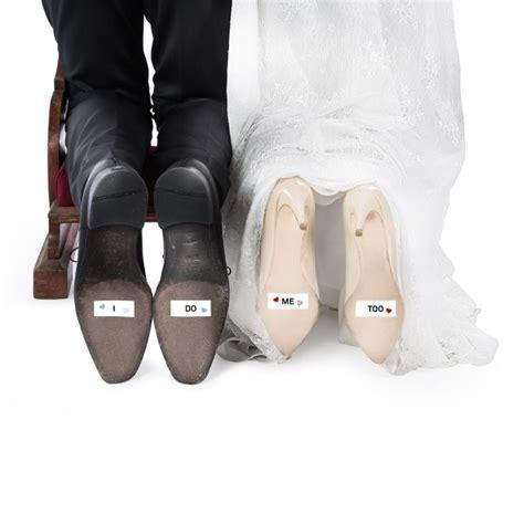 secret hochzeit schuhsticker just married