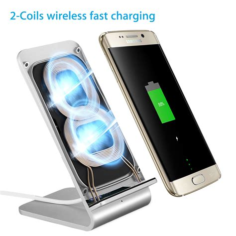 Iphone Qi Charging by Fast Qi Wireless Charger Stand Charging Dock Pad For