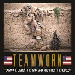 Self Adhesive Decorative Paper Military Motivation Teamwork Poster Usa Military Posters