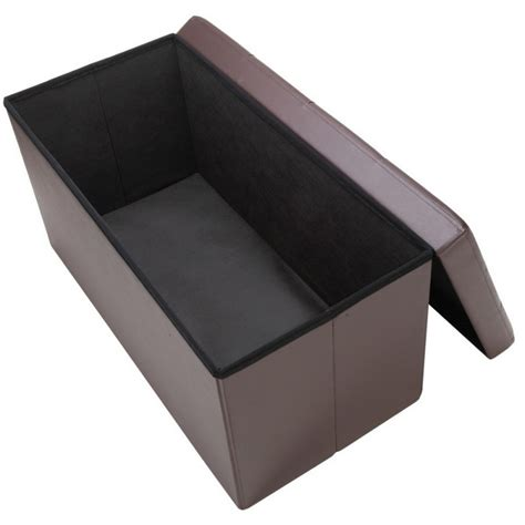 Homegear Folding Storage Ottoman Footstool Bench Ebay Folding Storage Ottoman Bench