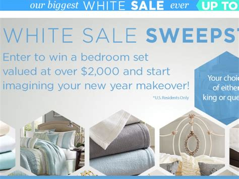 Overstock Sweepstakes - overstock com white sale sweepstakes