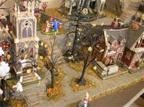 halloween neighborhood display platform dept 56 village ebay
