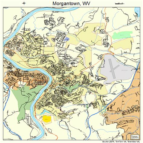 Wv Number Search Related Keywords Suggestions For Morgantown Map