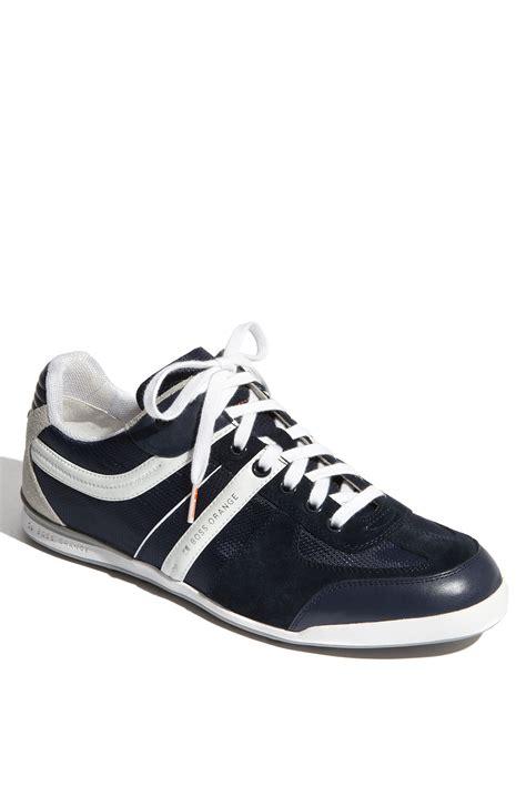 hugo sneaker shoes hugo orange kempton sneaker in blue for