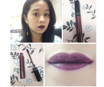 Lipstik Sephora Di Indonesia product review mencoba lipstik warna ungu tua dari