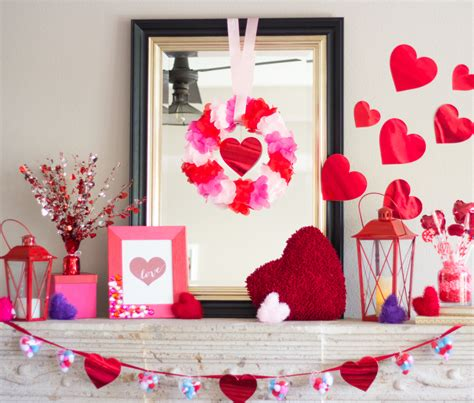 valentines mantel decor lovely crafts for a s day decor