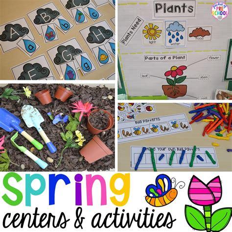 spring activities  centers  preschool pre
