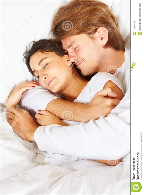 romantic couple in bed images couple showing romance on bed stock photography image