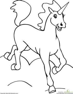 preschool unicorn coloring pages color the unicorn worksheets unicorns and school