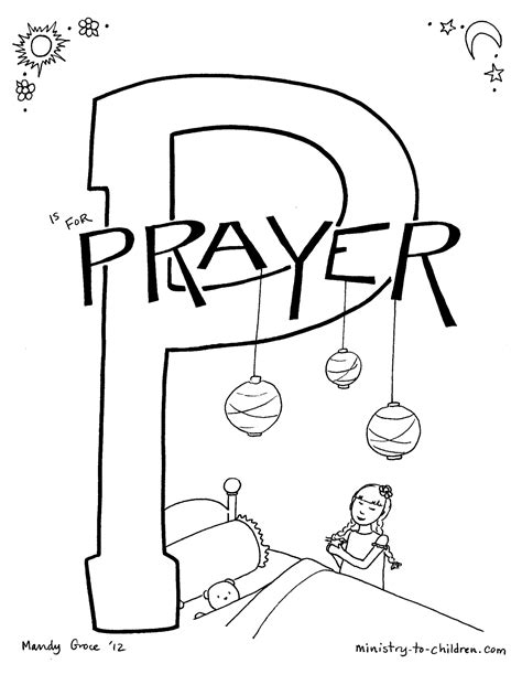 coloring pages for toddlers on prayer quot p is for prayer quot bible alphabet coloring page