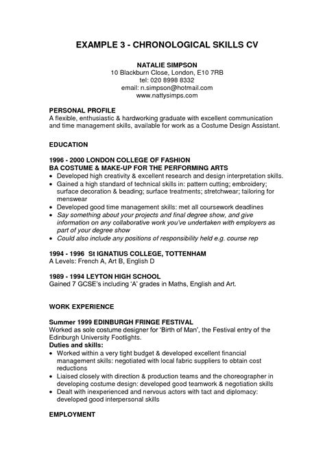 resume examples with skills section embersky me