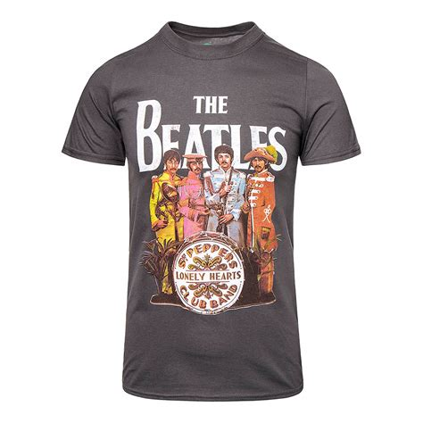 T Shirt The Beatles New official t shirt the beatles grey sgt pepper print band