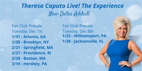 theresa caputo fan club theresa caputo home an evening with theresa new style