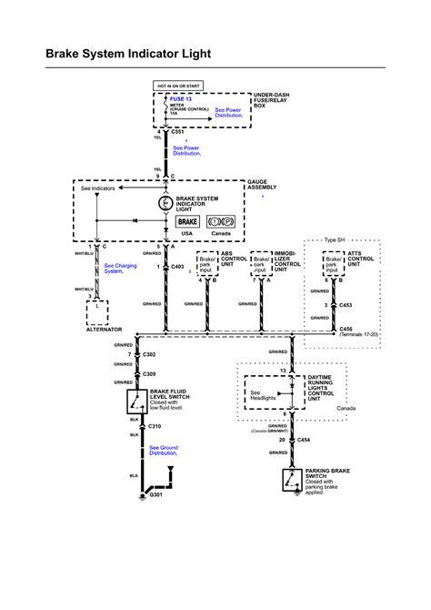 2000 honda civic brake light wiring diagram k