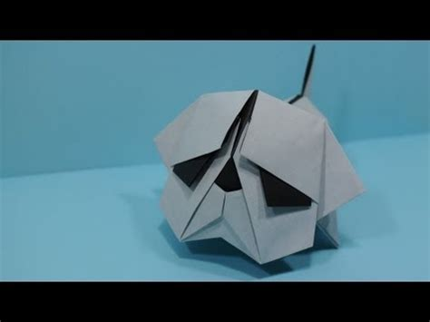 how to make an origami pug origami bulldog by jacky chan