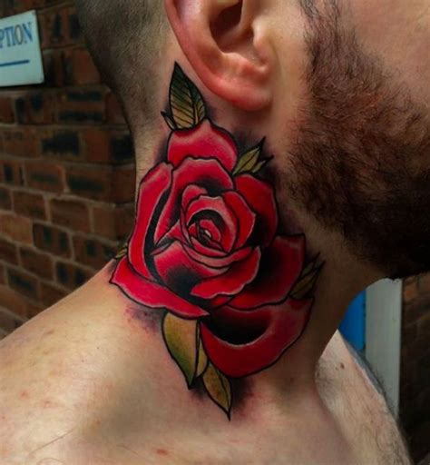 black rose tattoo on neck 25 best ideas about neck on neck