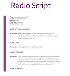 radio script template radio