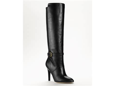coach high heel boots ash coach high heel boots in black black calf lyst