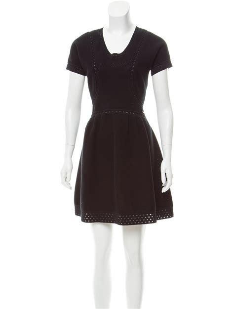 A Line Knit Dress chanel open knit a line dress clothing cha219767 the