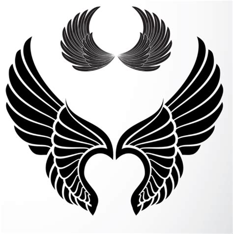 wing tattoo stencils clipart best