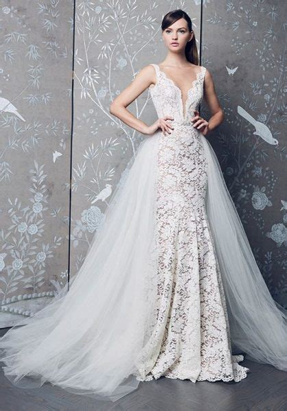 Sleeveless V neck Fully Lace Mermaid Wedding Dress
