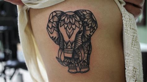mandala elephant done by shane olds at studio xiii in