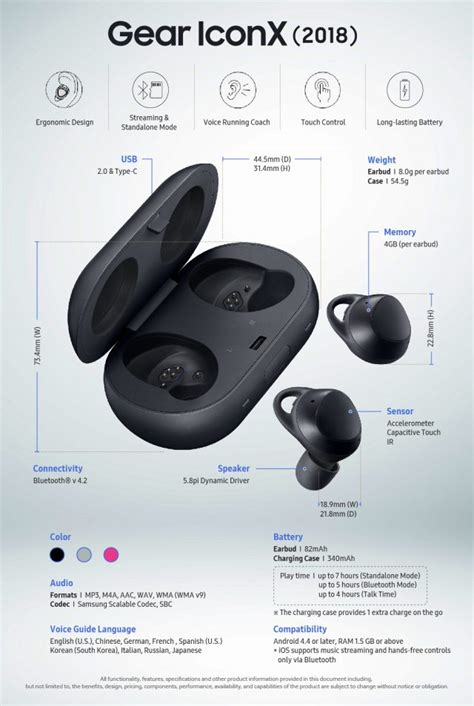 samsung iconx 2018 you buy the samsung gear sport and gear iconx 2018 today