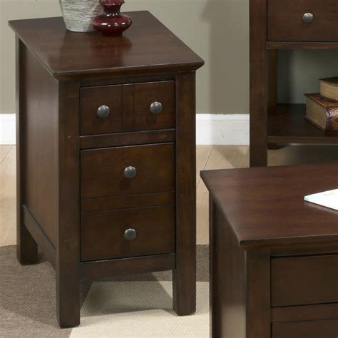 chairside end table with drawers jofran 364 7 mini chairside table w 2 drawers