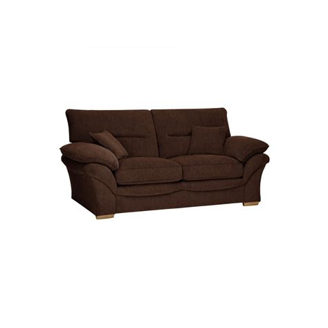 standard couch chloe 2 seater standard sofa bed in brown fabric