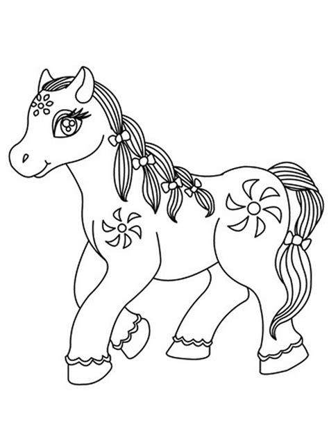 Gambar Dan Sho Kuda gambar mewarnai kuda poni untuk anak paud dan tk