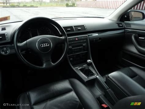 Ebony Interior 2003 Audi A4 1.8T quattro Sedan Photo #39357012 GTCarLot.com