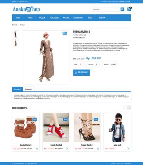 download template toko online php template website responsive menggunakan php dan mysql