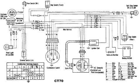 1972 honda wiring diagram trail 70 honda trail 70 owners