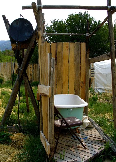 how to make an outdoor bathroom alt build blog hoop houses and an outdoor shower in