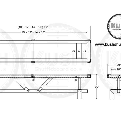 shuffleboard table dimensions official signature shuffleboard table the industrial farmhouse