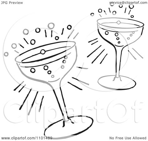 retro cocktail clipart clipart retro black and white cocktail glasses royalty