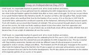Image result for importance of independence day in india essay