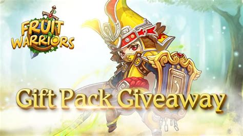 fruit warriors gift pack code giveaway