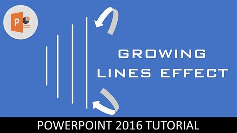 tutorial on powerpoint 2016 growing lines effect motion graphics in powerpoint 2016