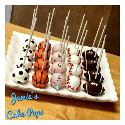 Sports Baby Shower Cakes by Sports Theme Baby Shower Cake Pops