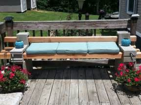 Can You Use A Fire Pit On A Wood Deck - diy cinder block outdoor bench