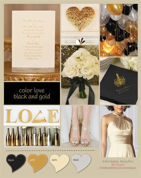 wedding themes gold and black black and gold wedding theme ann s bridal bargains