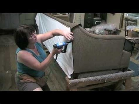 how to upholster a loveseat upholstery how to upholster the outside back on a sofa