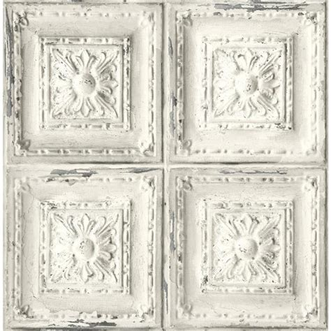 nextwall distressed tin tile peel  stick wallpaper