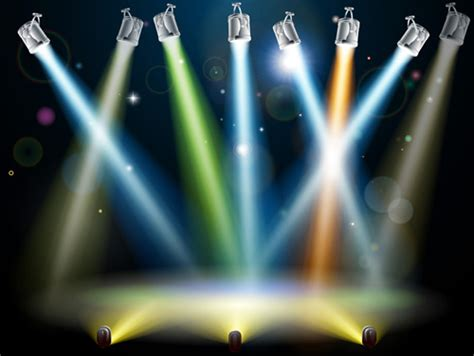 photo effect design download stage with spotlight effect design vector free vector in
