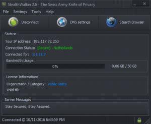 stealth walker privacy tool   eagle eye digital solutions