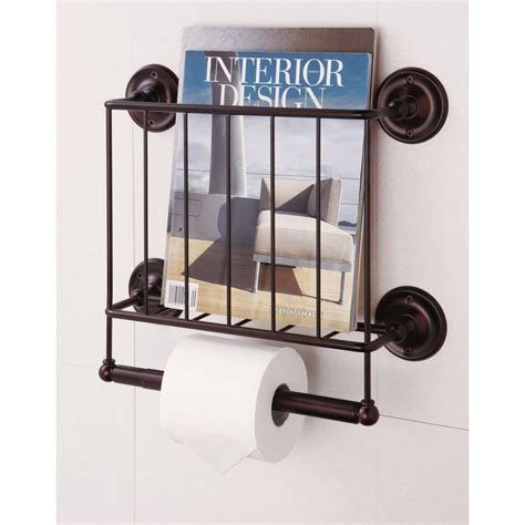 paper rack neu home 15 12 in w wall mount magazine rack with toilet