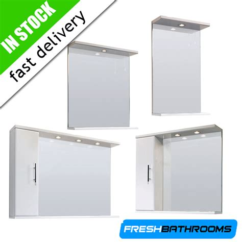 Bathroom Vanity Shelving Unit Bathroom Furniture High Gloss White Storage Vanity Mirror