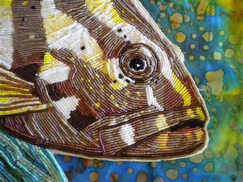 seed bead artists eleanor pigman nassau grouper seed bead portrait
